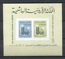 39123) Jordan 1962 MNH Nuevo Freedom From Hunger S/S