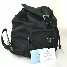 PRADA nylon B4650F backpack black with card used 3100-10Z11