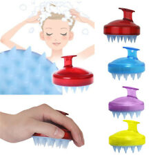Silicone Shampoo Brush Hair Scalp Cleaning Massage Brush Soft Silicone Comb