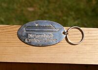 """Carnival Cruise Lines 2 5/8"""" Silver Tone Metal Keychain"""