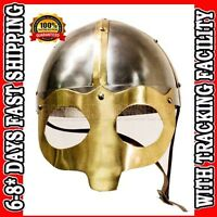Viking Mask Deluxe Helmet for re-enactment / larp / role-play / fancy-dress