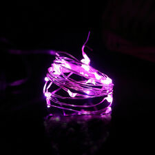 2m 20led Button Cell Powered Silver Copper Wire Mini Fairy String Lights Decor Pink