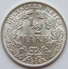 TOP! 1/2 Mark 1906 J in fast STEMPELGLANZ SEHR SELTEN !!!