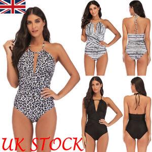 Plus Size Womens Push Up Monokini Tummy Control Bikini Swimsuit Swimwear Costume