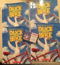 LOT OF 4 DAVID SHANNON BOOKS  DUCK ON BIKE With CASSETTE 2002