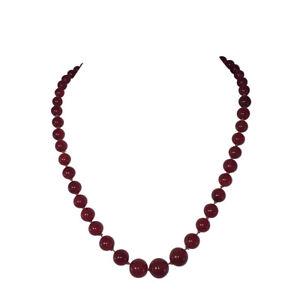 Graduated Carnelian AAA Grade Bead Necklace