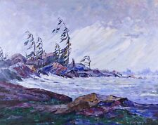 """George Buytendorp """"Windy Bay"""" Impressionist Landscape Oil Painting - Canadian"""