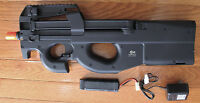 JG P90 Metal Gearbox Airsoft AEG With 300 RD High Capacity Clip. 410 FPS/0.2G