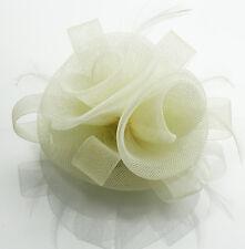 Ladies Fascinator Hair Clip Hat Women's Desinger Veil Hat Feather Mesh Wedding