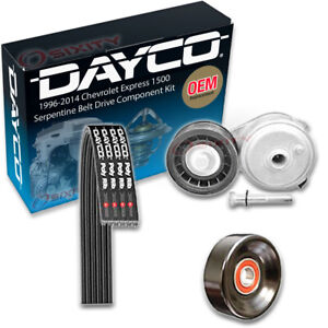 Dayco Main Drive Serpentine Belt Drive Component Kit for 1996-2014 Chevrolet is