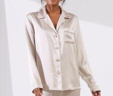 The White Company Silk Pyjama Shirt Size S
