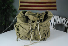 Vintage 70s Military Ruck Sack Back Pack Green Bag