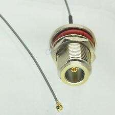 N female nut bulkhead to IPX U.FL female 1.37 cable pigtail 20cm