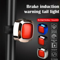 Waterproof USB Rechargeable Bike Bicyle Riding Tail Light Night Warning Lamp US