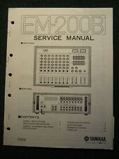 Yamaha EM-200B Ensemble Mixer Service Manual Schematics Parts List 1979 EM200B