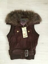 BNWT TOMMY HILFIGER GILET / BODYWARMER / JACKET WITH FAUX FUR TRIM SZ M UK 10 12