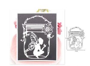 Fairy Lady in a Jar Metal Die Cutter Fantasy Girl Cutting Die