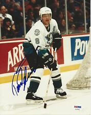 TEEMU SELANNE Signed Anaheim DUCKS 8x10 PHOTO w/ PSA COA