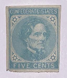Travelstamps: US CSA STAMPS SCOTT #6 JEFFERSON DAVIS 5 CENT MINT NG