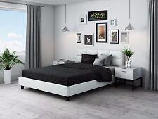 Ehebett Kunstlederbett Doppelbett 140x200 weiß TOPNEU2017 mit Lattenrost