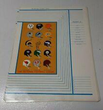 "VTG NOS 1965 National Football League NFL Book Cover 10""x13"" All 14 Teams Rare!"