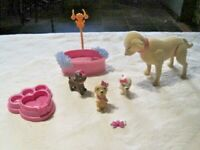 Barbie Luv Me 3 Taffy Dog & Puppies Lot (A)