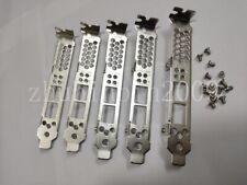 Lot of 5 pcs Full Height Bracket For HP NC523SFP QLE3242 HP 593717-B21