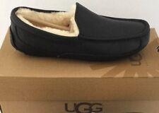 UGG Australia ASCOT LEATHER Slippers Men US7 fits Women US8  #5379 BLK $140