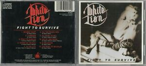 White Lion - Fight To Survive CD 1985 EARLY DISCOVERY PRESS SLAMCD1