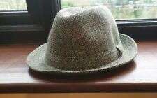 Vintage hat.The Ascot.100% Wool. Made in GB. Green wool tweed.Trilby hat.58cm