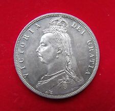 1887 Half crown British Coin Queen Victoria Jubilee Head A superb example