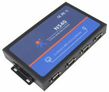Quad Serial Device Server RS232 RS485 RS422 COM to Ethernet LAN TCP/IP Converter