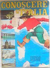 ALBUM FIGURINE CONOSCERE L'ITALIA  CON 247/257 ANNI 60 STICKERS BAGGIOLI EDITORE