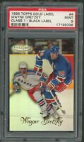 Wayne Gretzky New York Rangers 1998 Topps Gold Label Hockey Card #4 PSA 9
