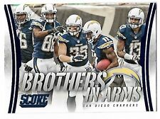 2014 Panini-Score Football #BA-26 Brothers In Arms  - San Diego Chargers