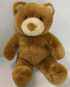 "Build A Bear Small Brown Bear Plush 10"" Sitting Stuffed Animal Tan Ears Face 21G"