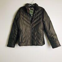 Eddie Bauer Womens Brown Premium Goose Down Puffer Jacket Size Small