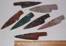 """1 Hand Made Flint Agate Knife Blade  Average 5"""" to 6""""  Inches Long Arrowheads"""