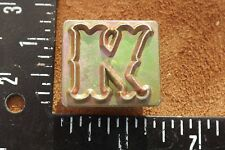 LEATHER TOOLS/**CRAFTOOL ONE INCH ALPHABET REPLACEMENT LETTER STAMP ( K ) **