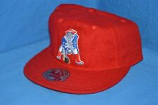 NEW ENGLAND PATRIOTS NFL FOOTBALL MITCHELL & NESS WOOL LOW PROFILE RED HAT 7 7/8