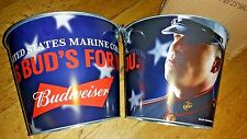 budweiser salutes the marines beer bucket...free shipping