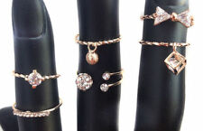 Cubic Zirconia Copper Costume Rings