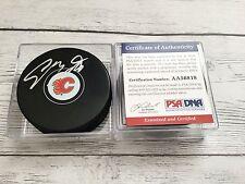 Sam Bennett Signed Calgary Flames Hockey Puck PSA DNA COA Autographed b