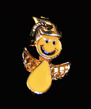 SMILEY FACE ANGEL GRADUATE PIN