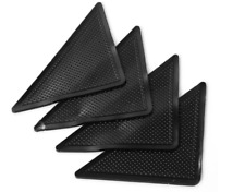 4 x RUG CARPET MAT GRIPPERS RUGGIES NON SLIP SKID REUSABLE WASHABLE GRIPS