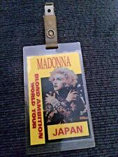1990 Madonna Blond Ambition World Tour backstage pass, unused,