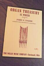 ORGAN TREASURY 15 PIECES BY JAMES DASHER HAMMOND ORGAN REGISTRATION WILLIS CO