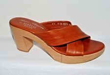ROBERT CLERGERIE NEW SZ  9 M BROWN LEATHER PLATFORM SANDALS FRANCE