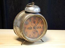 """RARE! Antique C.F.R. MAUTHE 5"""" Alarm clock Caile Ferate Romane railways not work"""