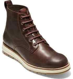 Cole Haan Men Waterproof Hiking Boot Original Grand Boot US 13M Chestnut Leather